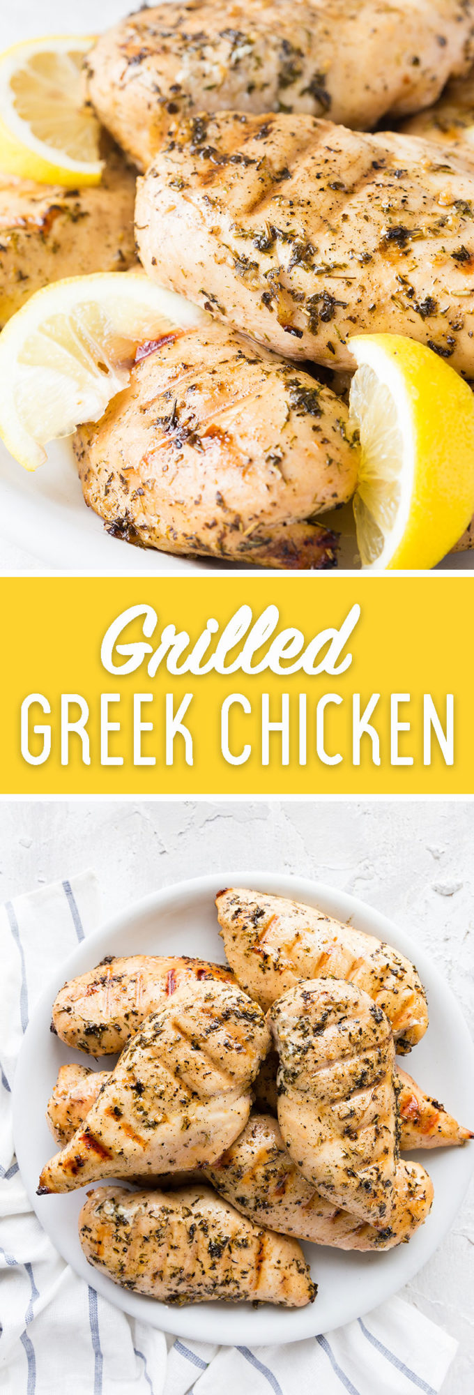 Easy to make grilled Greek chicken with the perfect marinade