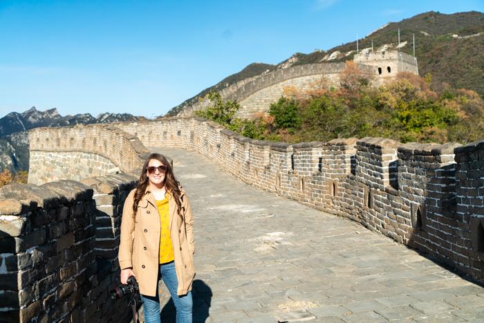 Visiting the Great Wall of china