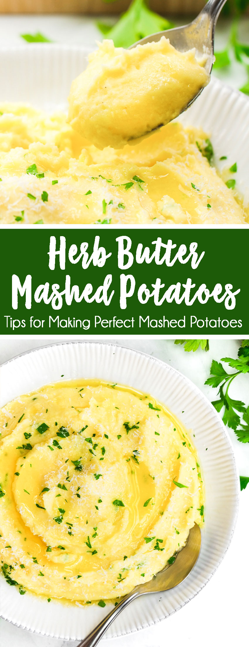 How to make mashed potatoes, these herb butter mashed potatoes are light, fluffy, and sooo flavorful