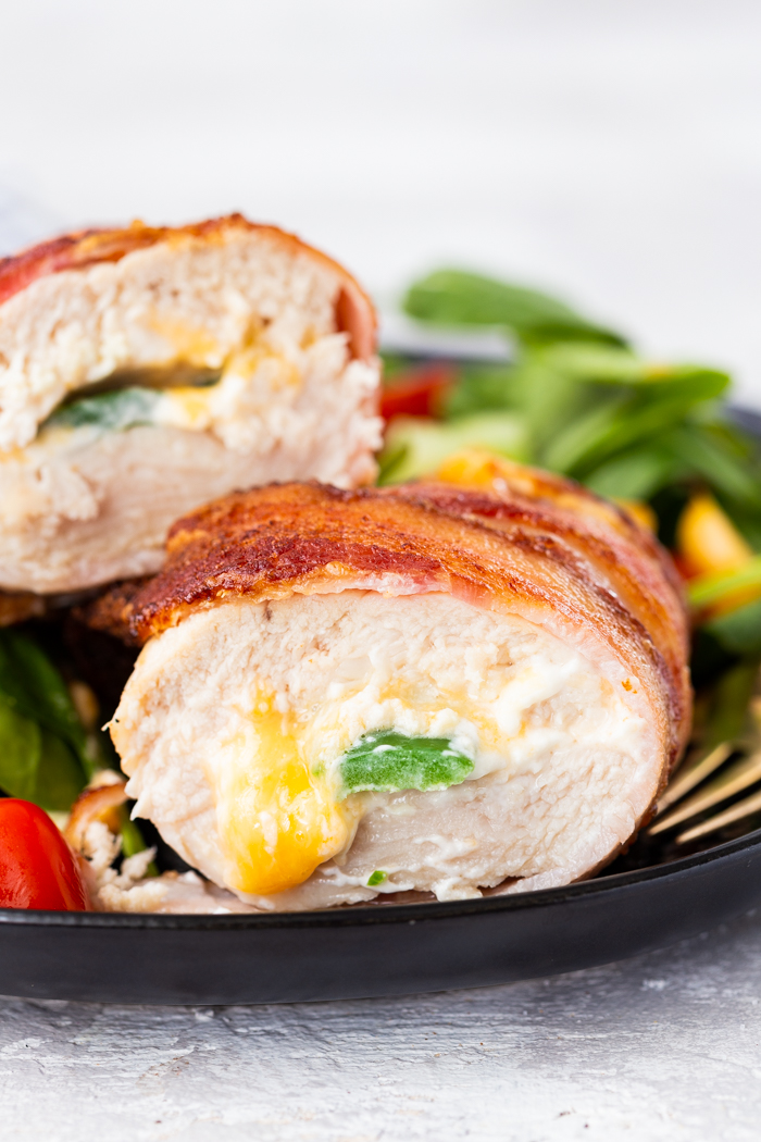 Air fryer jalapeno pepper stuffed chicken breast