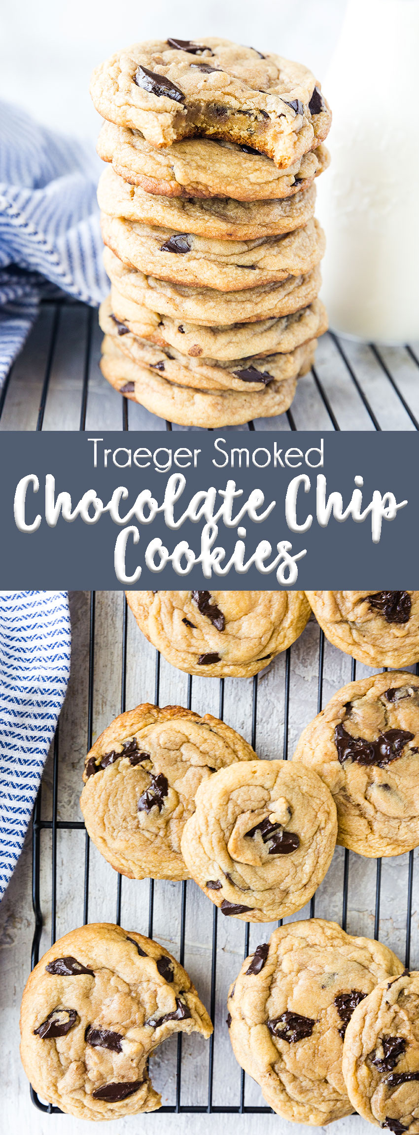 Traeger Smoked Chocolate Chip Cookies- soft and chewy cookies with a slight smokiness.