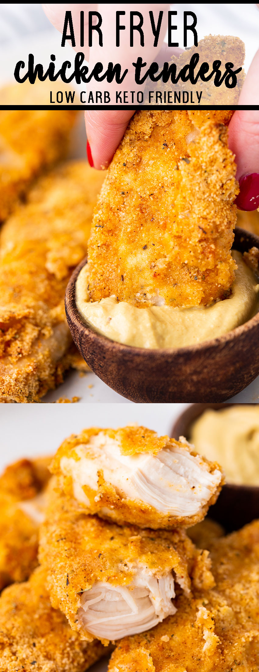Air fryer chicken tenders are low carb and totally delicious