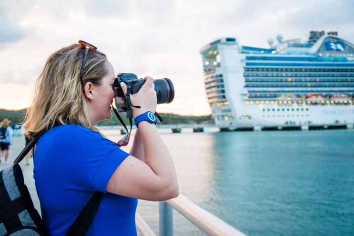 Enjoying the ocean medallion on a princess cruise ship