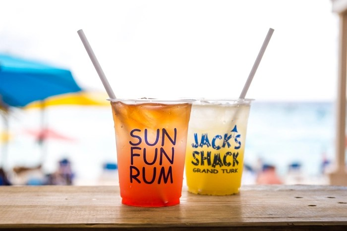 Drinks from Jack's Shack in Grand Turks