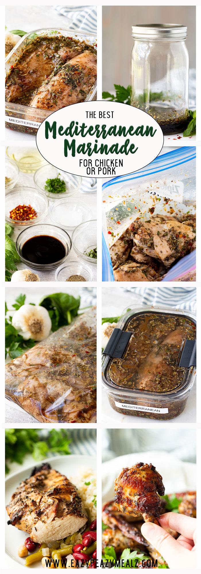 Mediterranean marinade for chicken or pork.