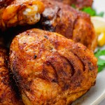 Oven roasted chicken thighs