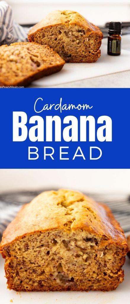 cardamom banana bread, a moist and tender banana brad nicely spiced with cardamom oil