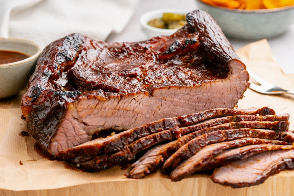 A gorgeous oven baked bbq beef brisket