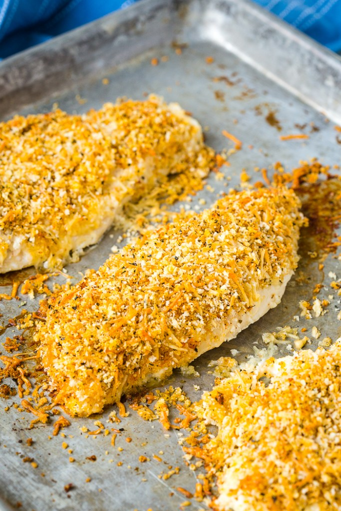 Baked panko crusted chicken breast