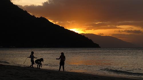 Sunset at Aninuan Beach