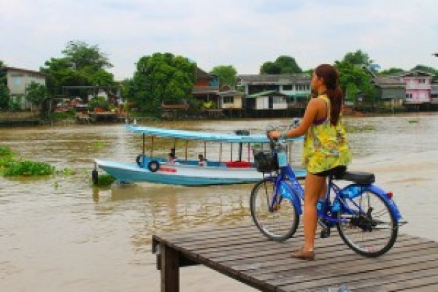 Biking in Ko Kret