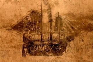 19th-century graffiti of Spanish steamers