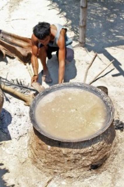 Salt-making at Pug-os Beach