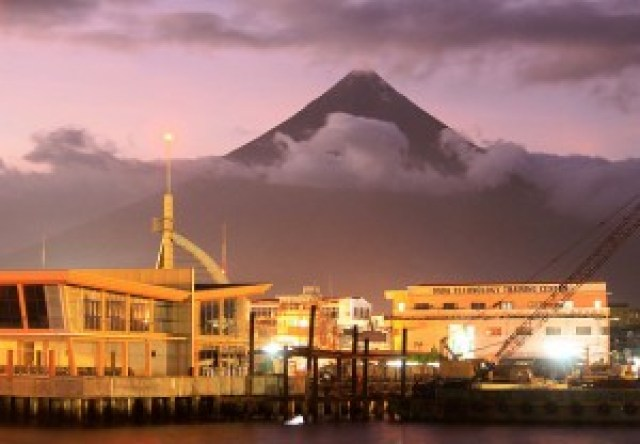 Mt. Mayon from Embarcadero de Legazpi
