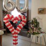 סידור בלונים ליום הולדת 60