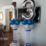 סידור בלונים ליום הולדת 13