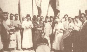 صورة موسم الحج في برجا … نوبة وبيارق وأعلام