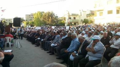 صورة ترّو في اعتصام إقليم الخرّوب رفضاً لمشروع المطمر : لن يمرّ وسنتصدّى له