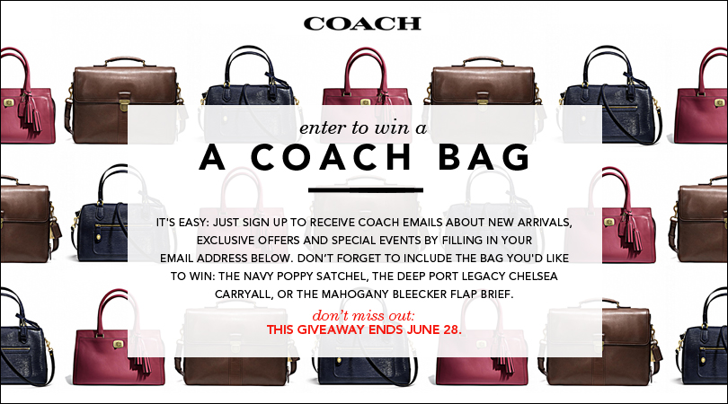 Enter to Win a Coach Handbag