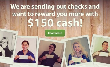 Show us your Big Fat Check and Win $150