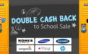 Double Cash Back to School Sale!