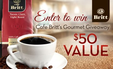Win a Bundle of Gourmet Coffee & Chocolates from Cafe Britt