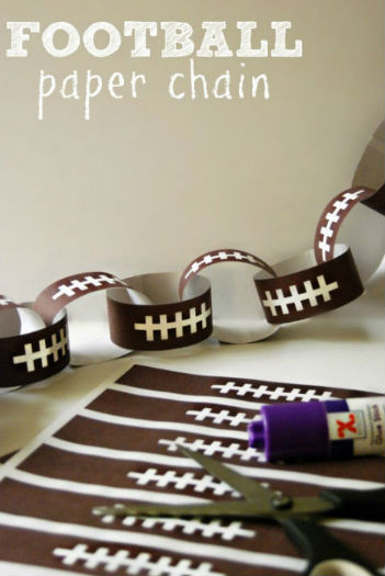 football_paper_chain