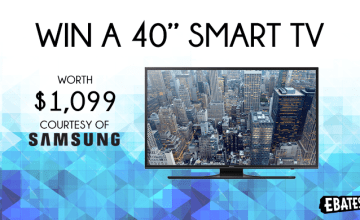 Win a 40″ Smart TV from Samsung!