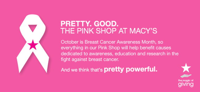 Shop Macys for Breast Cancer Awareness