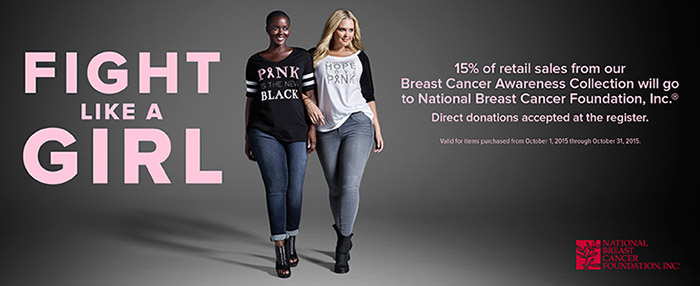 Shop Torrid for Breast Cancer Awareness