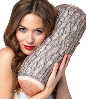 Squish Me' Mooshi Pillow - Log Pillow