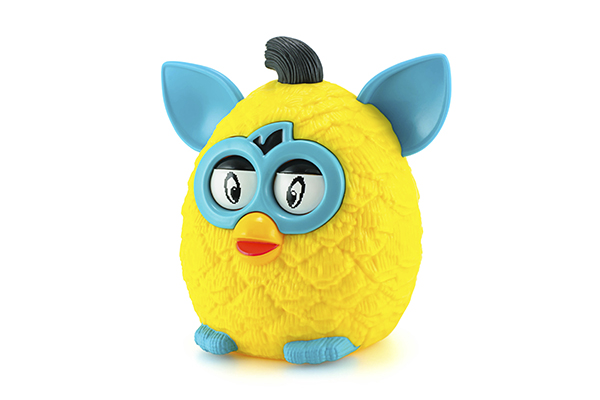Yellow furby from Furby Boom collection toy series.
