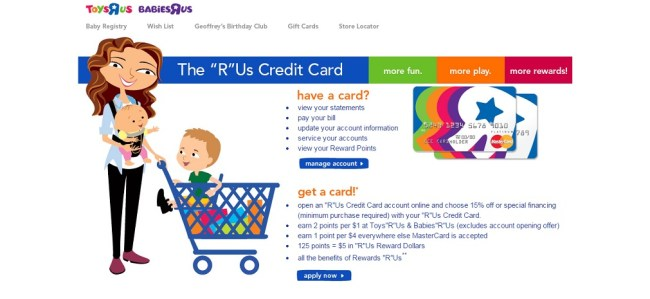 toyr r us credit card