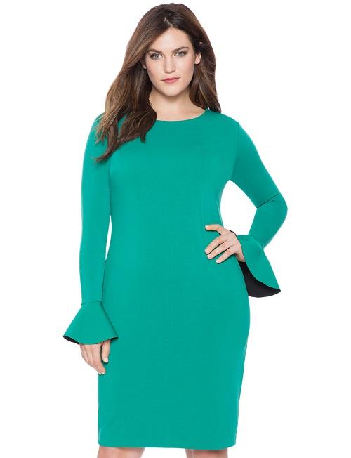 Flounce Sleeve Dress