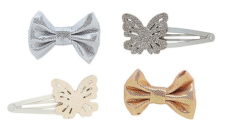 Sparkle Butterfly Bow Hair Clips