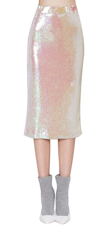 Midi Pencil Skirt in Sequin