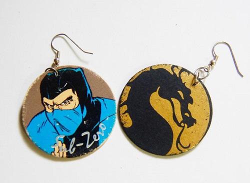 Mortal Kombat Pog Earrings