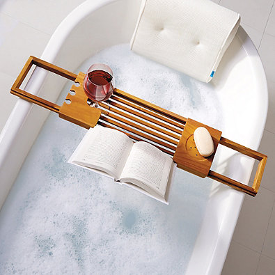 Teak Bathtub Tray Caddy