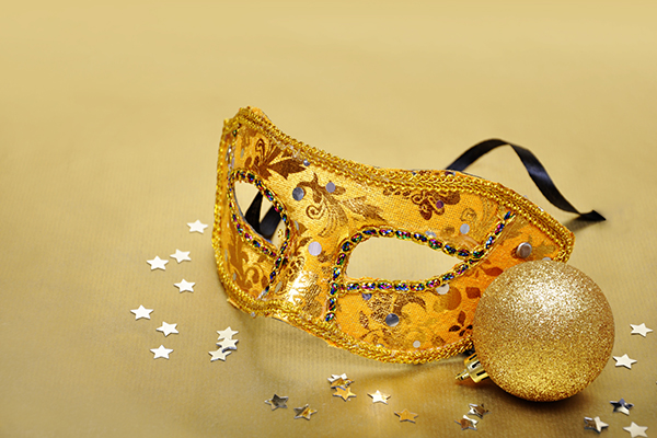 New Year's Eve mask