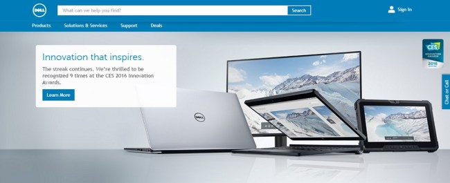 Dell Computers Homepage
