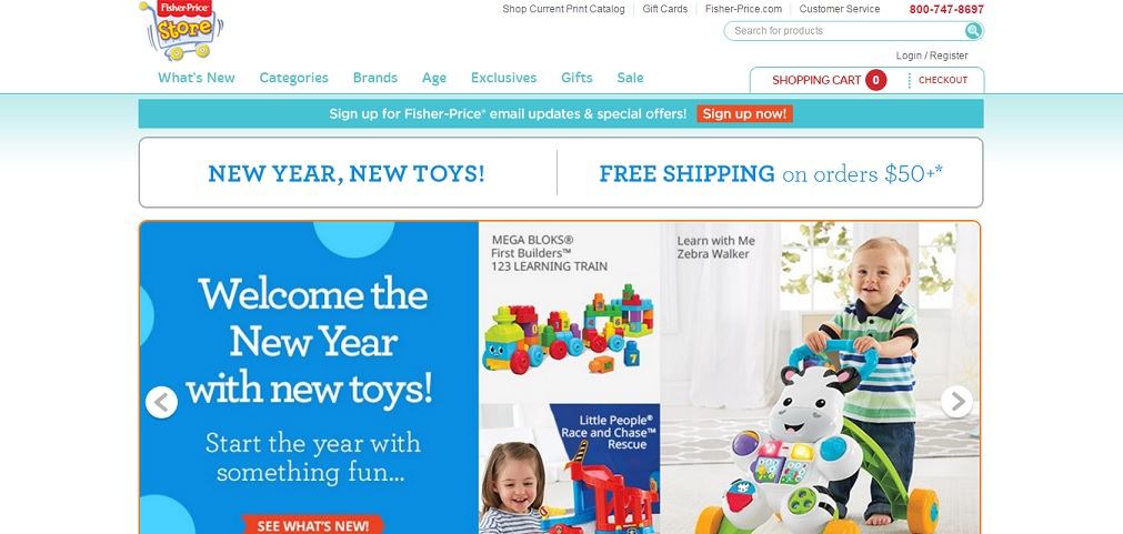 Fisher Price Homepage