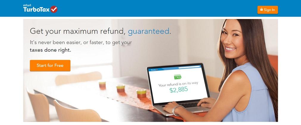 TurboTax Tax Filing Homepage