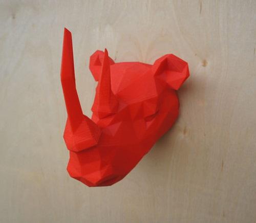 Mounted Rhino Head