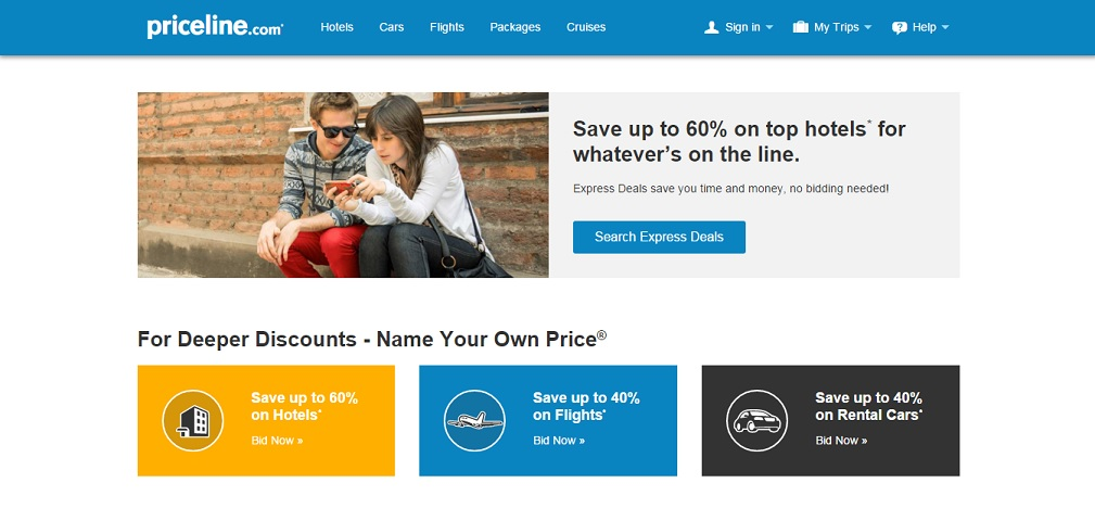 Priceline.com Homepage