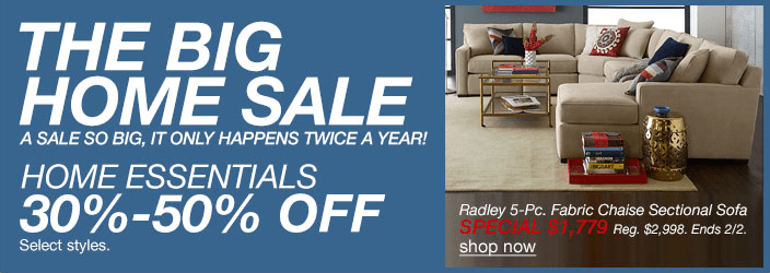 Macy's Big Home Sale