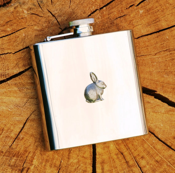 Rabbit Bunny Hip Flask Nature Gift