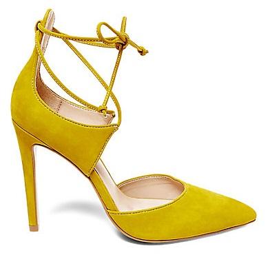 Steve Madden Roebella yellow lace up pumps heels