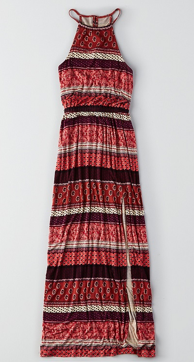 SOFT & SEXY HI-NECK MAXI DRESS