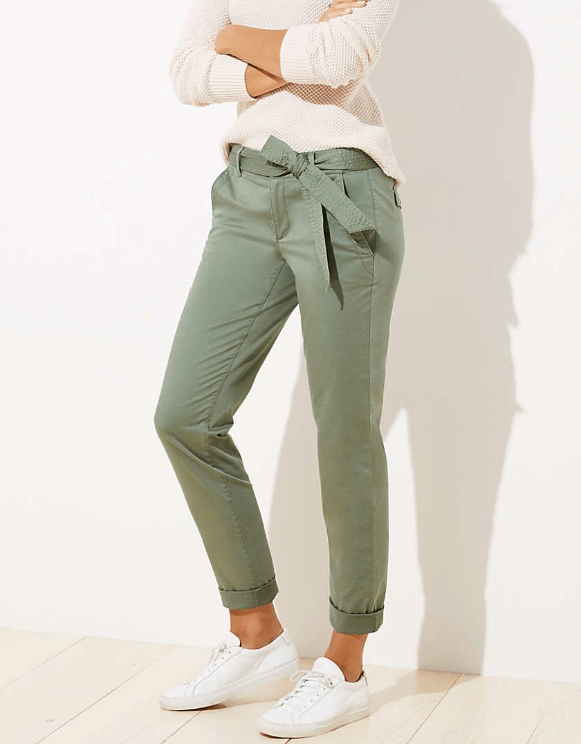 LOFT Slim Tie Waist Pants in Marisa Fit