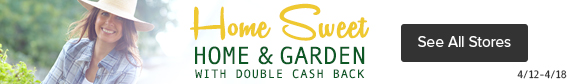 Home and Garden Week at Ebates.com
